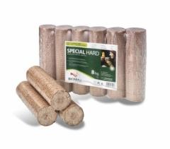 Dřevěné brikety SPECIALHARD 8kg balení obr.1